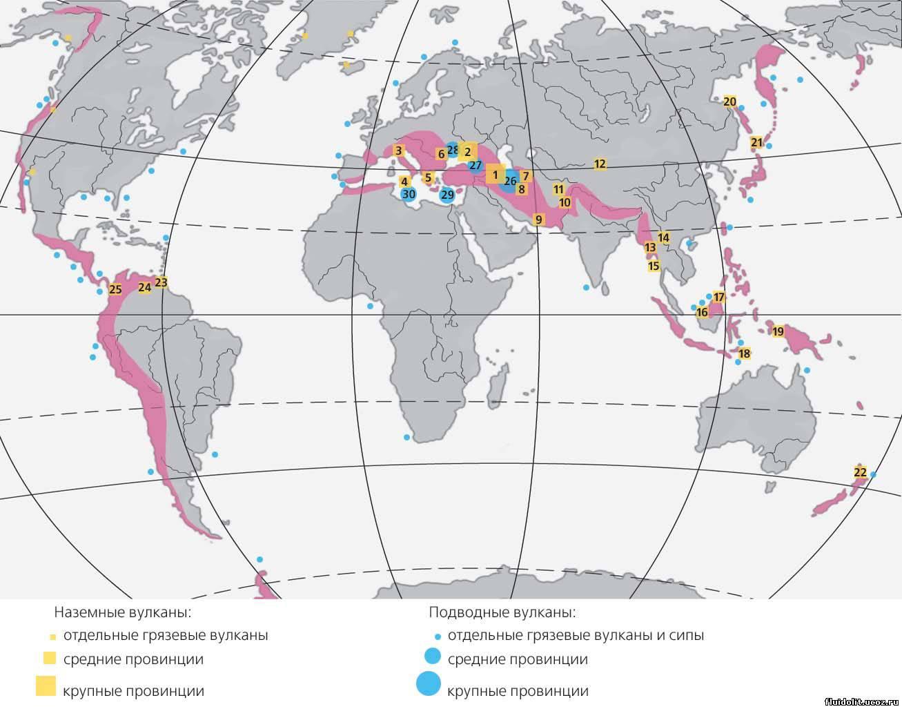 границы плит земли(схема)
